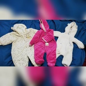 3 winter baby clothes, 3m